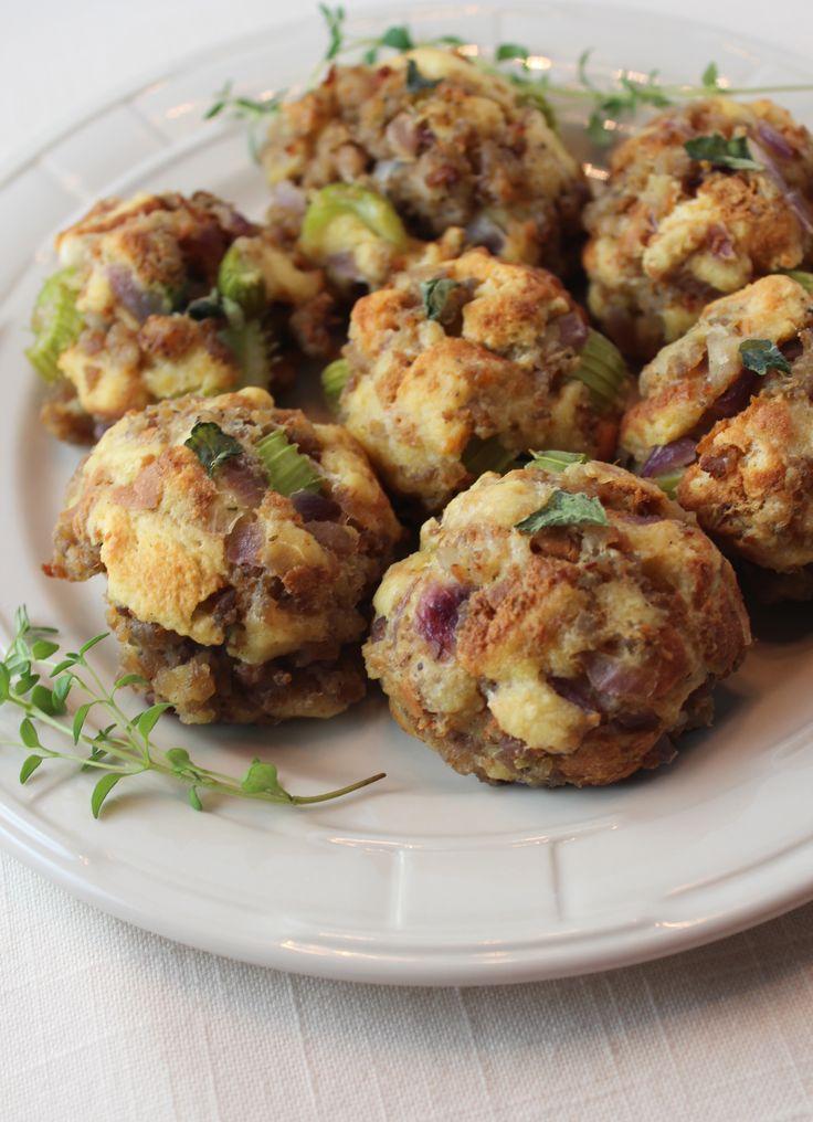 #Sausage Stuffing Balls Appetizer recipe