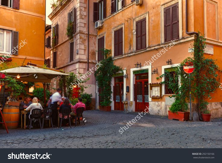 Old Street In Trastevere In Rome, Italy. Trastevere Is Rione Of Rome, On The West Bank Of The Tiber In Rome, Lazio, Italy. Architecture And Landmark Of Rome Stock Foto 292150166 : Shutterstock