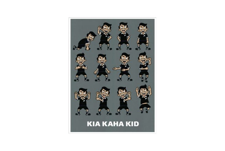 Every aspiring All Black would love Dick Frizzell's Kia Kaha Kid print on their bedroom wall! http://www.toitoidesignstore.co.nz/products/kia-kaha-kid