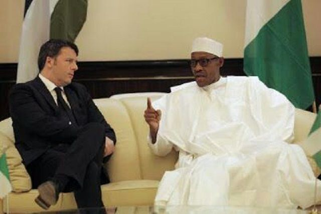 President Buhari receives the Prime Minister of Italy at the Presidential Villa, Abuja (See Photos)