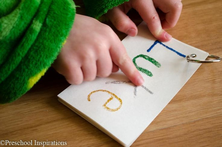 Make a touch and feel book to help a child write his or her name! Tactile Name Writing Practice by Preschool Inspirations