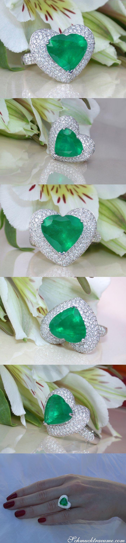 Die besten 25 Smaragd diamant ringe Ideen auf Pinterest
