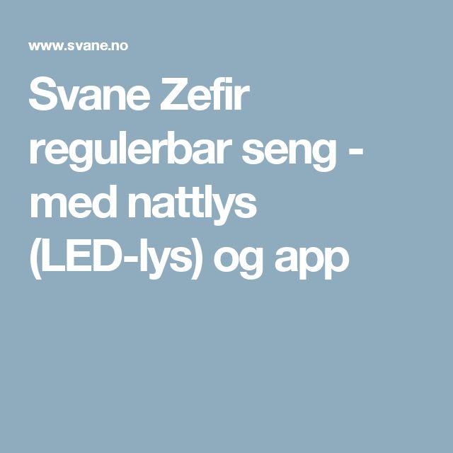 Svane Zefir regulerbar seng - med nattlys (LED-lys) og app