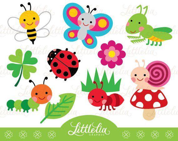 Garden Bug Cute Digital Clipart 14037 Instant Download Etsy In 2021 Clip Art Digital Clip Art Mothers Day Crafts For Kids