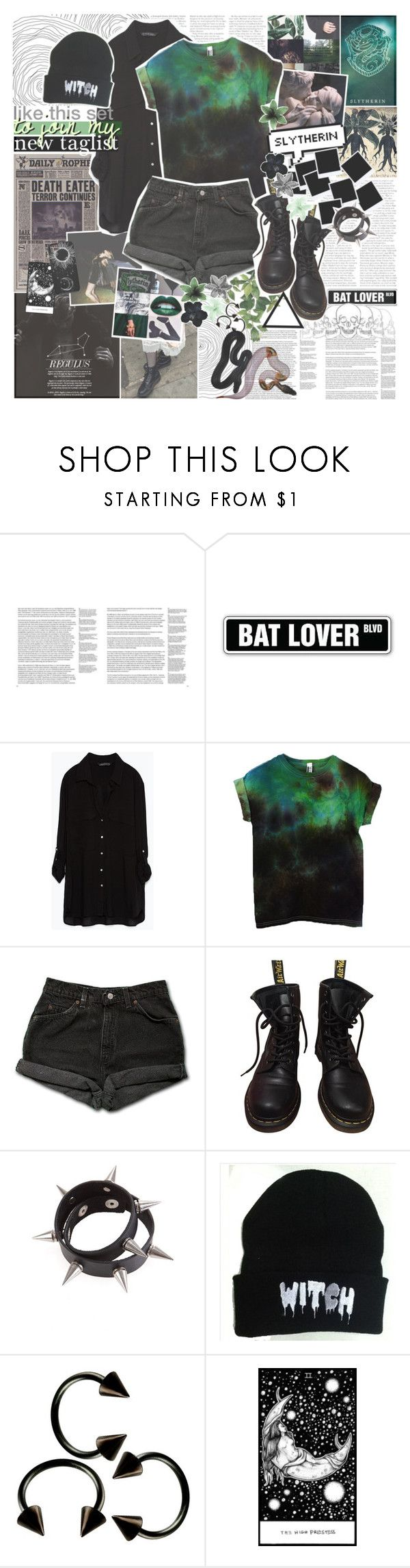 """""""☽ LIKE THIS SET TO JOIN MY NEW TAGLIST // READ DESCRIPTION ☾"""" by i-love-stan-the-man ❤ liked on Polyvore featuring GESTALTEN, GET LOST, Zara, Levi's and Dr. Martens"""