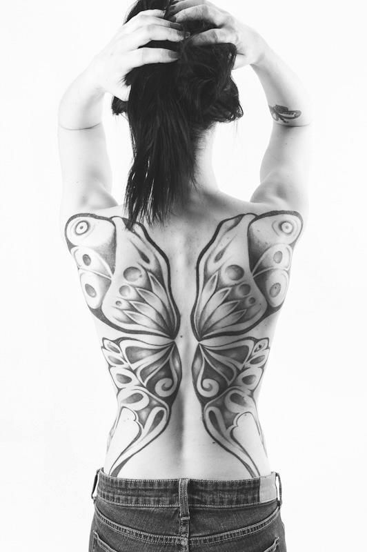 i would NEVER but its really pretty and kind of a girl twist on the angel wings guys always get