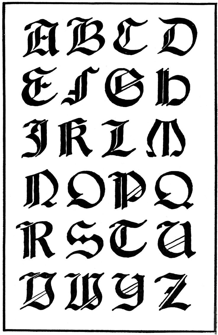 Italian Gothic Letters #blackletter #capitals | Alphabets ...