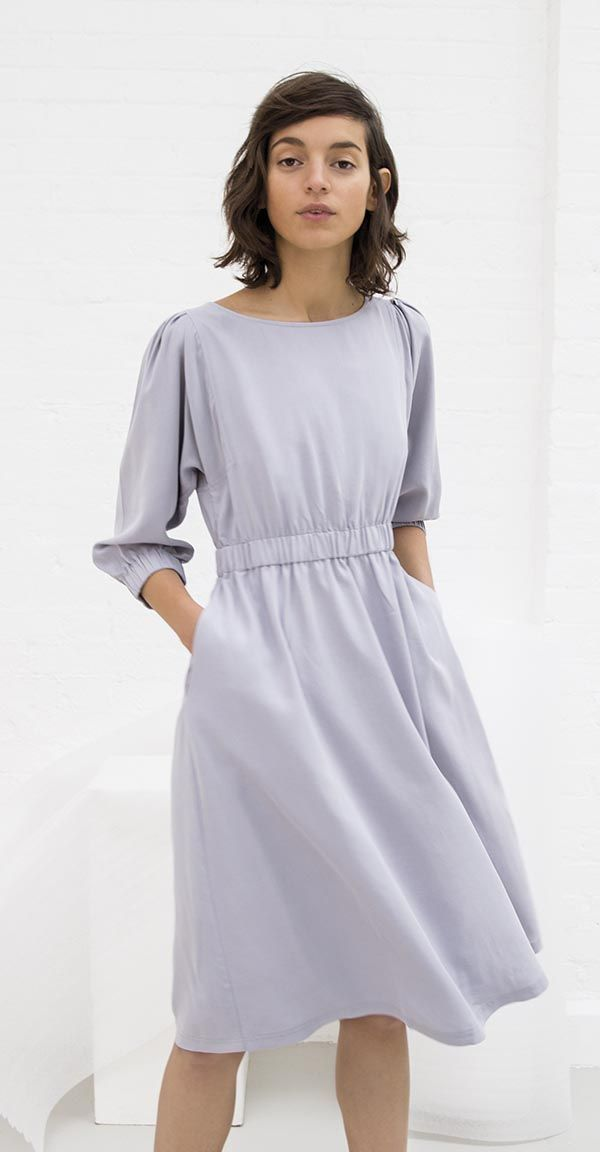 A soft silhouette with utility details makes wearing this Relaxed Sleeve Dress a dream.