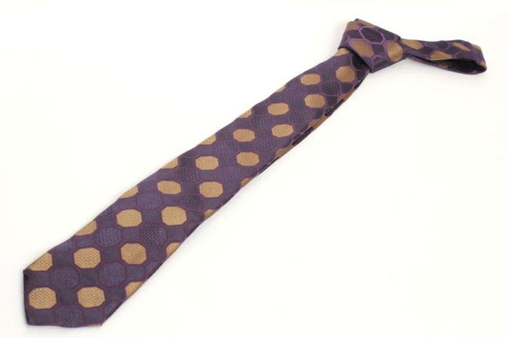 【 #GUCCI #グッチ シルク 織柄 ナロータイプネクタイ パープル×ゴールド】グッチよりシルク素材のネクタイのご紹介です。画像をクリックして頂きますと、詳細ページをご覧頂けます。 #セブンマルイ質店 TEL06-6314-1005