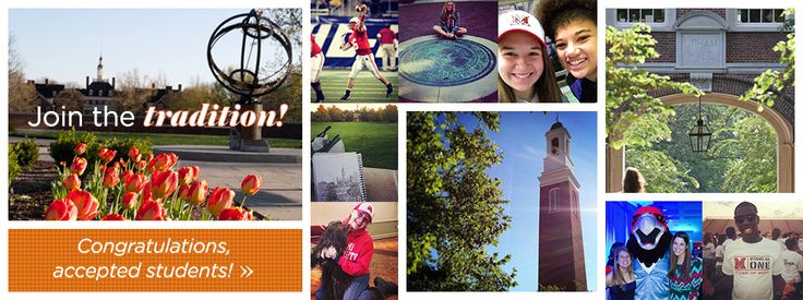 Congratulations to our newly accepted students! #MiamiOH2018