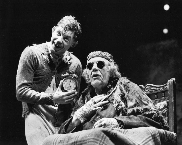 "Lee Evans (as CLOV) & Michael Gambon (as HAMM) in Samuel Beckett's ""Endgame"""