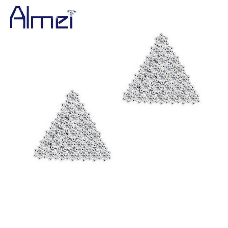 Find More Stud Earrings Information about Fashion Crystal Rhinestone Stud Earrings for Women 925 Silver Jewelry Trendy 2016 Sweet Korean Earring Brincos Sale Ulove JS503,High Quality earrings for baby girls,China earring part Suppliers, Cheap earring castings from Almei Jewelry Store on Aliexpress.com