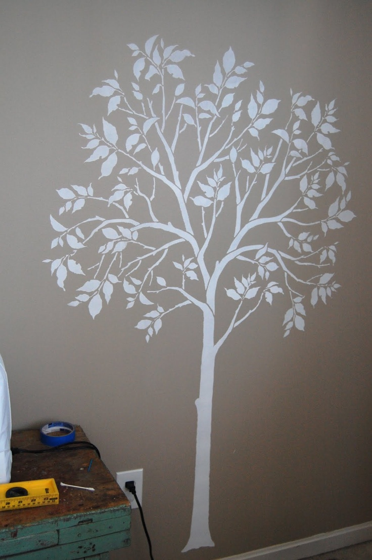 10 best wall trees images on pinterest at the top baby rooms painted tree stencil could hand paint amipublicfo Images