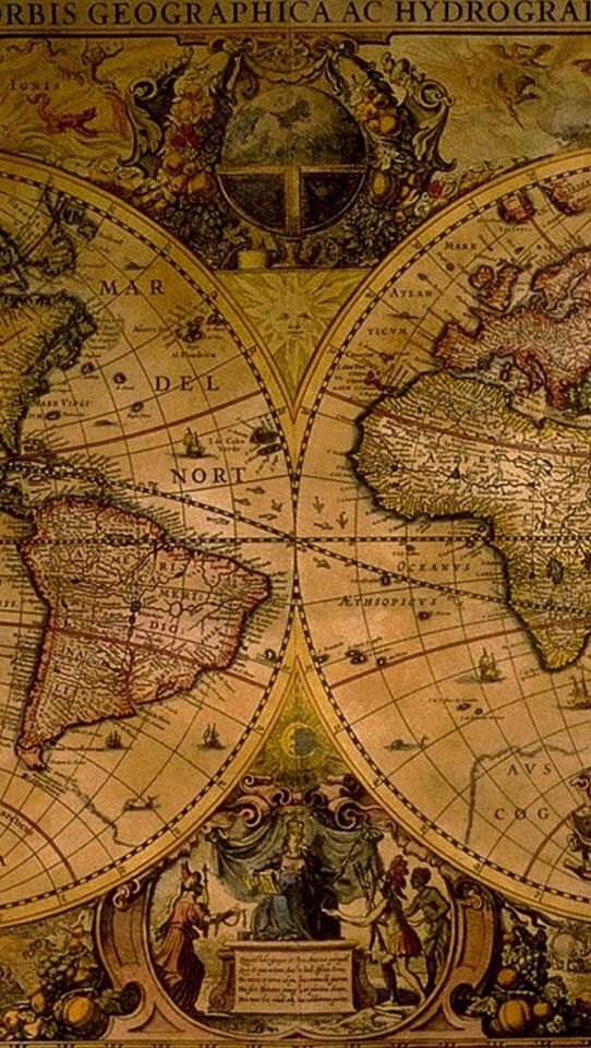 OLD CLASSIC any old Map looks enchantingly