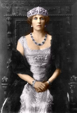 Princess Victoria Eugenie of Spain (1887-1969) was queen consort to King Alfonso XIII of Spain. Her father was Prince Henry of Battenberg and the name of her mother was Princess Beatrice of UK.