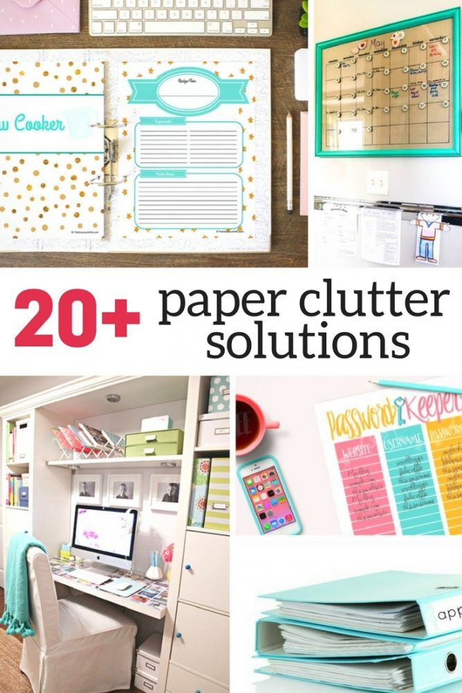 Drowning in paper clutter? Check out these creative solutions that will help you organize each and every paper in your home.