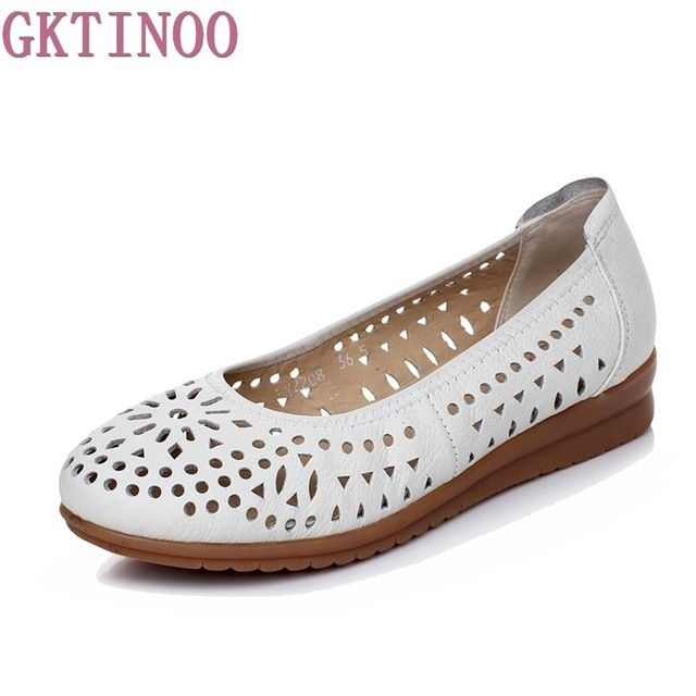 Check it on our site 2017 Women Loafers Lady Flat Shoes Woman Summer Flats Hollow Out Comfortable Soft Outsole Genuine Leather Moccasins just only $24.02 with free shipping worldwide  #womenshoes Plese click on picture to see our special price for you