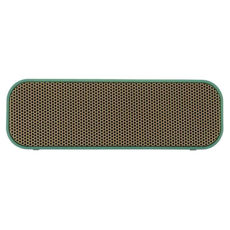 aGROOVE høyttaler, grønn/gull i gruppen Innredningsdetaljer / Hjemmets bra å ha / Radioapparater hos ROOM21.no (129973)