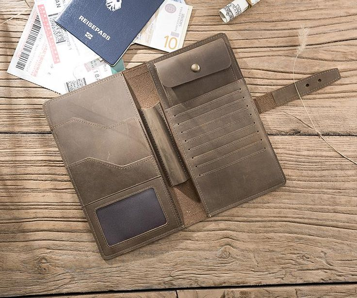 Overview: Design: Handmade Leather Mens Travel Wallet Passport Leather Wallet Long Phone Wallets for MenIn Stock: Ready to Ship(2-4 days)Include: Only WalletC