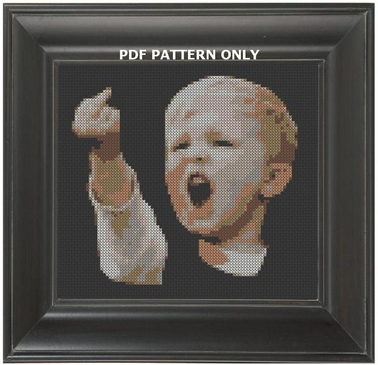 Pattern Funny Cross Stitch Football Hooligan Dutch by CrassCross, $5.00