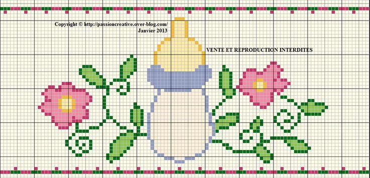 Mes grilles gratuites 2013 1ere partie el bebe en punto de cruz pinterest photos - Grilles gratuites point de croix pour bebe ...
