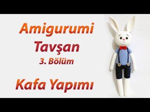 Amigurumi Tavşan Örme Bölüm 3 🐰 - Büyük Tavşan Kafa Yapımı 🐇