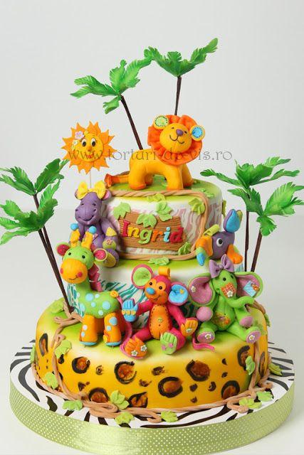 Torturi - Viorica's cakes: Prietenii din jungla pentru Ingrid