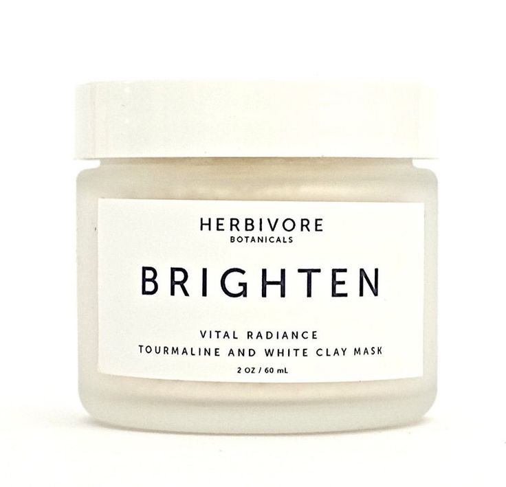 Brighten. Tourmaline Gemstone and White Clay Mask