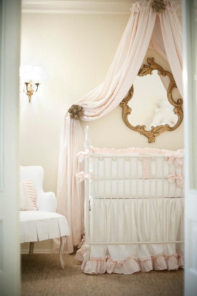 17 best ideas about canopy over crib on pinterest girl for Nursery crown canopy