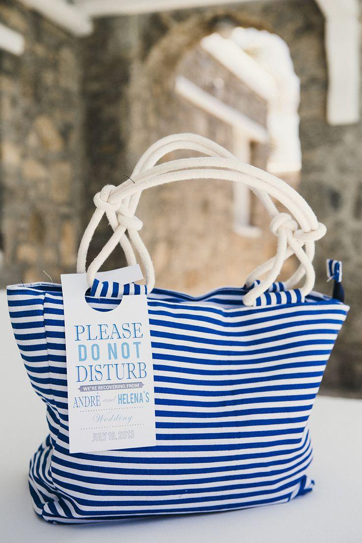 Cute wedding welcome favor bag. Photography: Anna Roussos - annaroussos.com