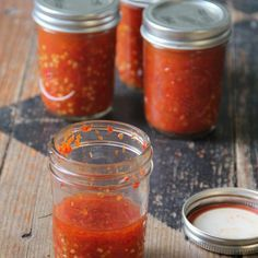 Scotch bonnet peppers and scallions for the base to this super-flavorful hot sauce.