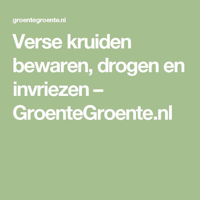 Verse kruiden bewaren, drogen en invriezen – GroenteGroente.nl