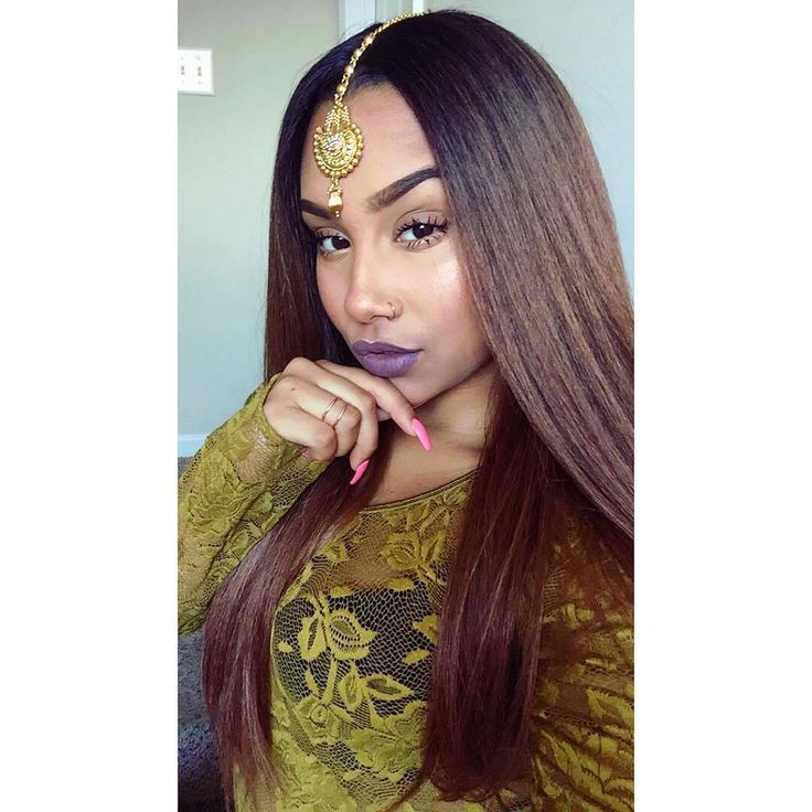 Silky Straight Hair || IG: @theanayal8ter || Outre Lacefront Batik Dominican Blowout Straight