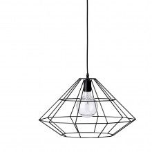 BLOOMINGVILLE Extra Large Pernille Pendant, Matt Black --- The large 'Pernille' pendant by Bloomingville in metal matt black is a great addition to any living room, kitchen or office. Material: MetalSize: Ø 55 cm x H 32 cm