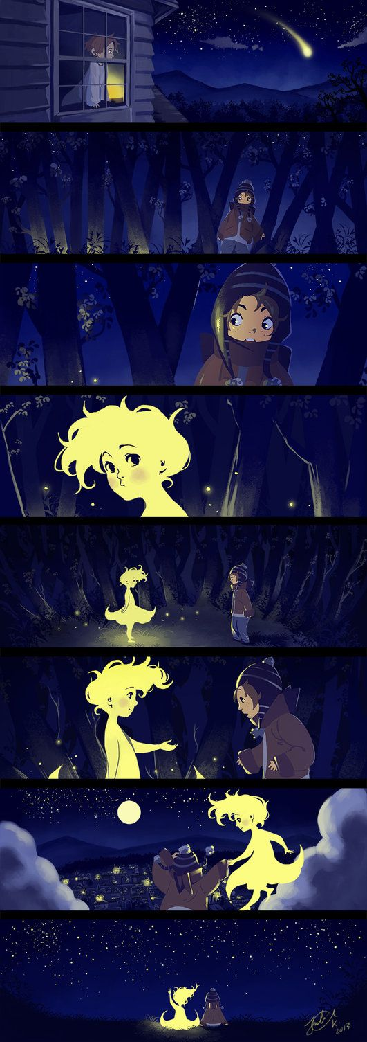 http://www.pencilkings.com  Love this #animation #storyboard Falling Star by miyumon