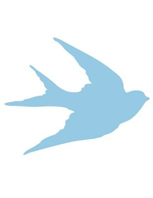 Transfer Printables - Bird Silhouettes - Swallows - The Graphics Fairy