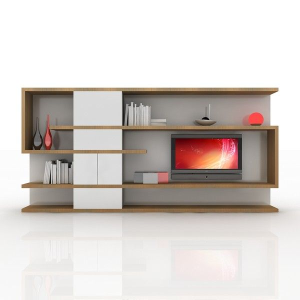 modern tv wall unit 3d obj tv wall unit modern design
