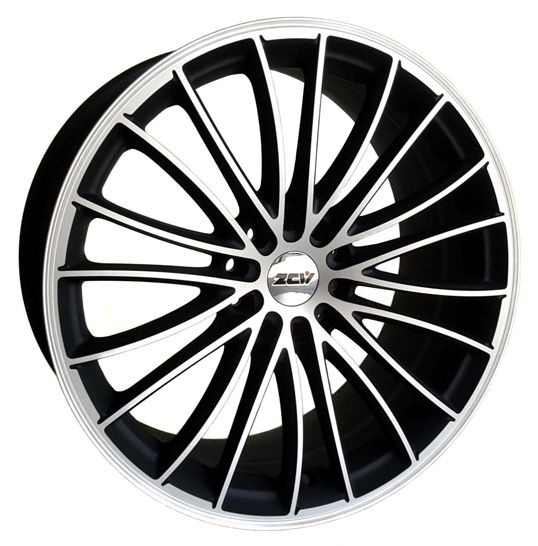 19 ZCW SNOOP MATT BLACK POL LIP AND FACE alloy wheels for 5 studs wheel fitment in 8.5x19 rim size