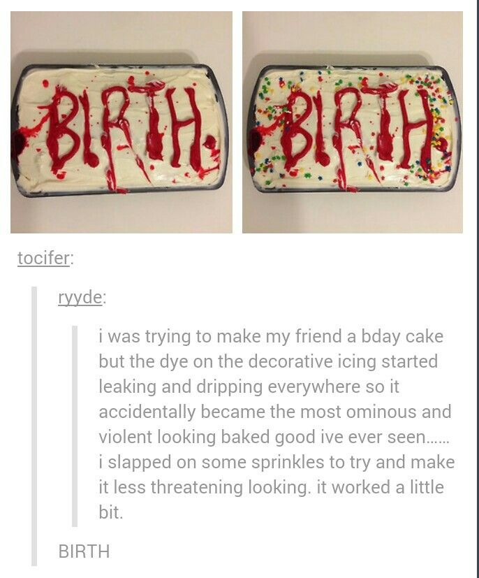 I'm probably the only person I know who wouldn't mind the macabre massacre cake.