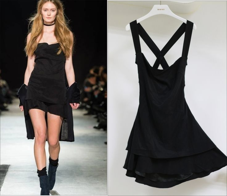 Black Cupro Sexy Dress From Customer's Fashion Show