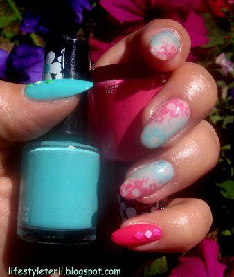 Kolorowy Świat Terii: Flower Power Nails, + wyniki rozdawajki