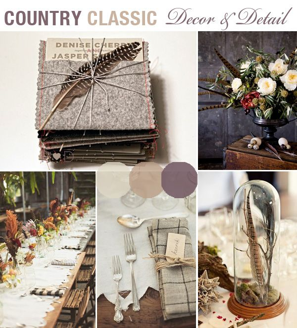 country tweed theme
