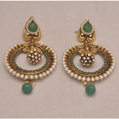 Polki With Pearls Earrings