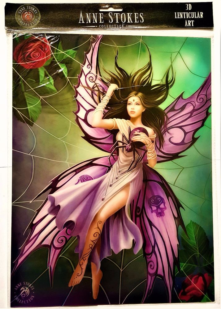 Brand New Licensed 3D Lenticular Anne Stokes Silk Lure Fairy Print