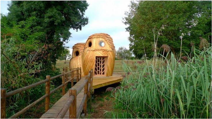 Vous pouvez dormir gratuitement dans ces refuges en forme de hiboux en France, et l'intérieur vous fera rêver | ipnoze