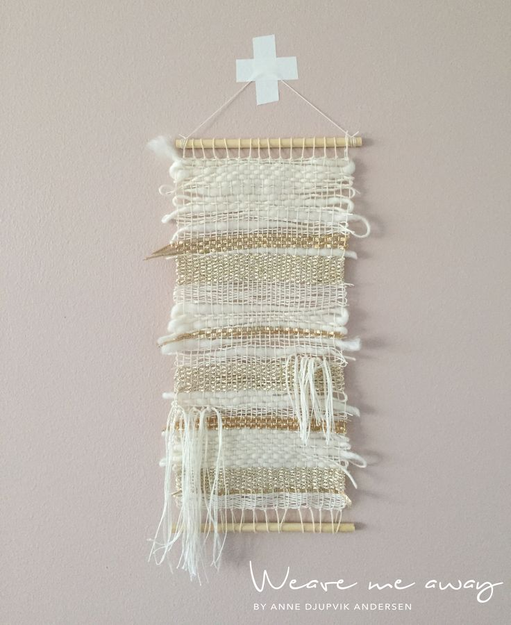 Gold and white weaving