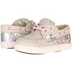 So cute! Sperry Kids Bluefish Prewalker (Infant) Silver Cloud/Pink Leopard - Zappos.com