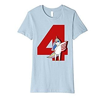 Amazon.com: Happy 4th Of July Unicorn Ma Memorial Day Funny T-shirt: Clothing