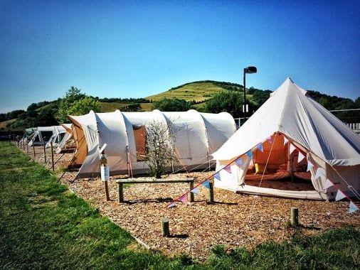 Nordisk Asgard 12.6 & Nomad Lodge 4 tents at Taunton Leisure - Sanders Tent Display, Somerset, England.