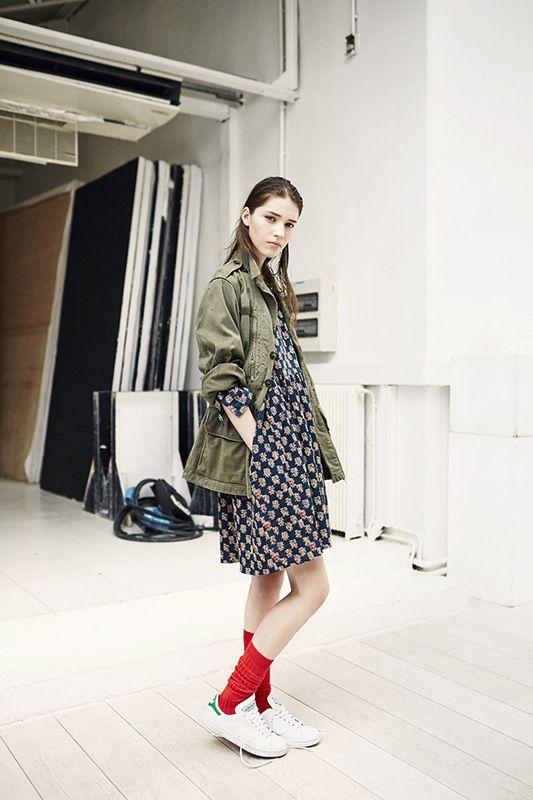 REGINA DRESS // VIBE JACKET // Leon & Harper Fall Winter 2014-15